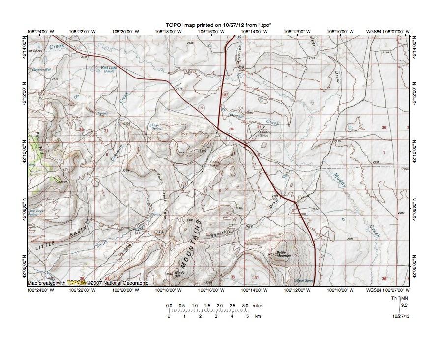 Muddy CreekMedicine Bow River Drainage Divide Area