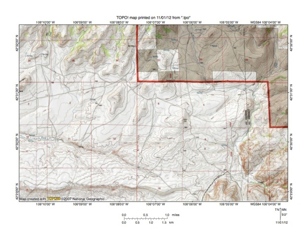 Bates CreekLittle Medicine Bow River Drainage Divide Area