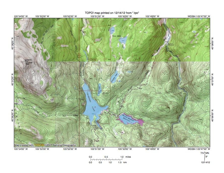 Cache La Poudre River Colorado Map