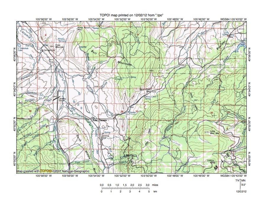Laramie River Colorado Map