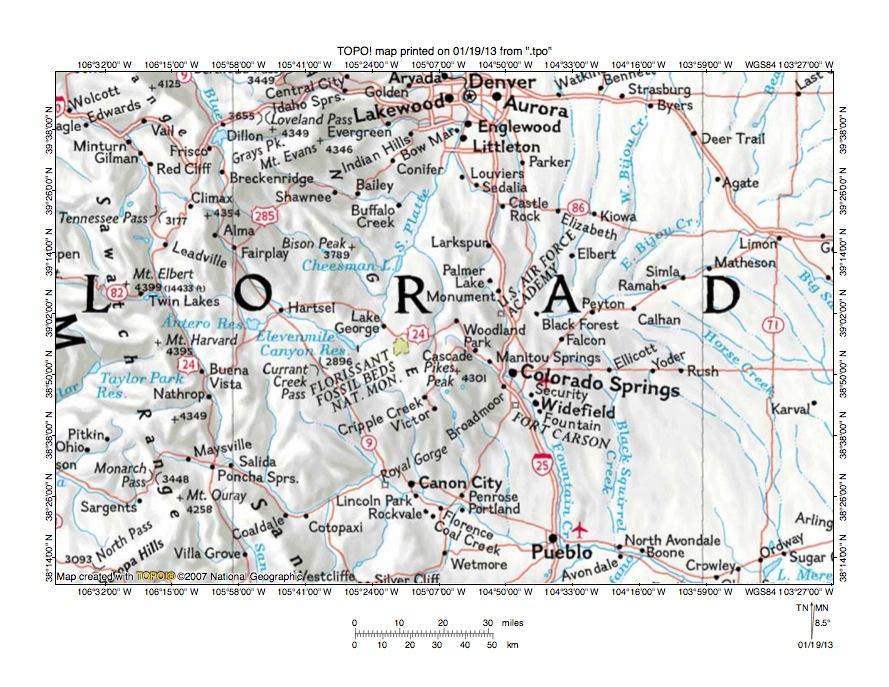 South Platte River Arkansas River Drainage Divide Area Landform