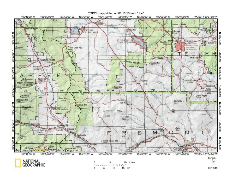 South Platte RiverArkansas River Drainage Divide Area Landform - Arkansas river map