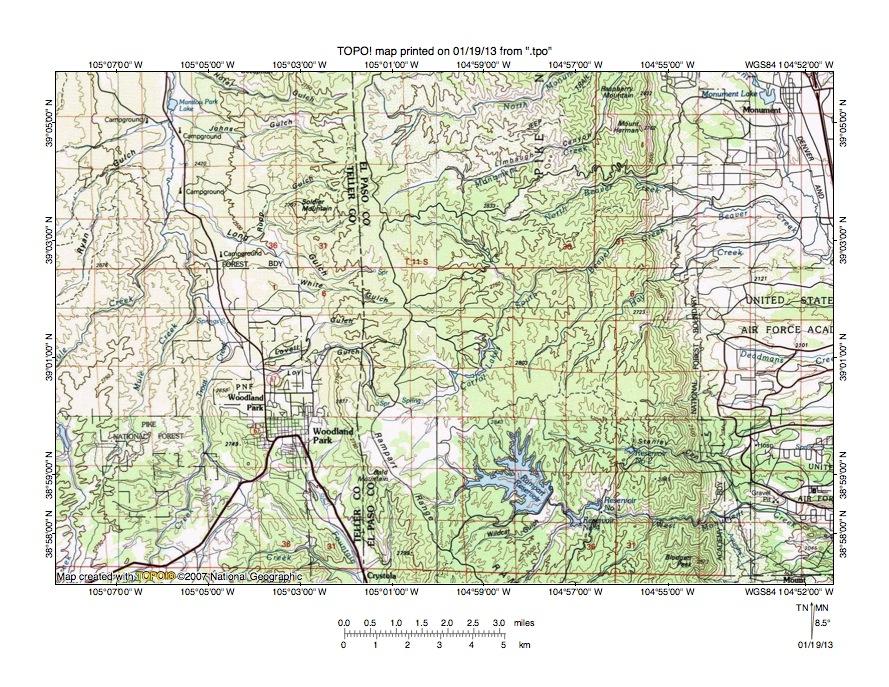 South Platte RiverArkansas River Drainage Divide Area