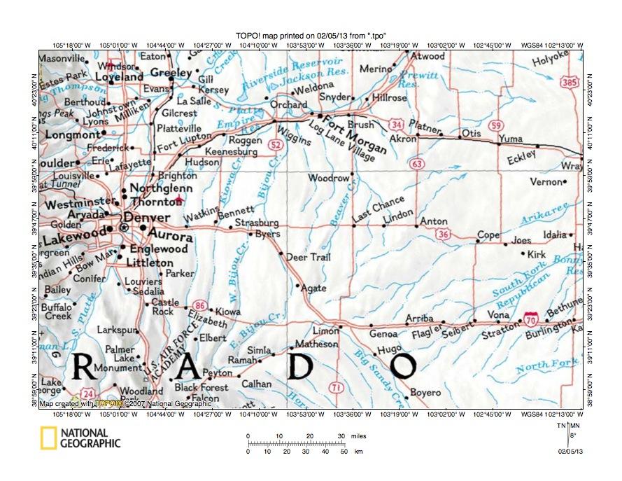Kiowa Creek Bijou Creek Drainage Divide Area Landform Origins On The