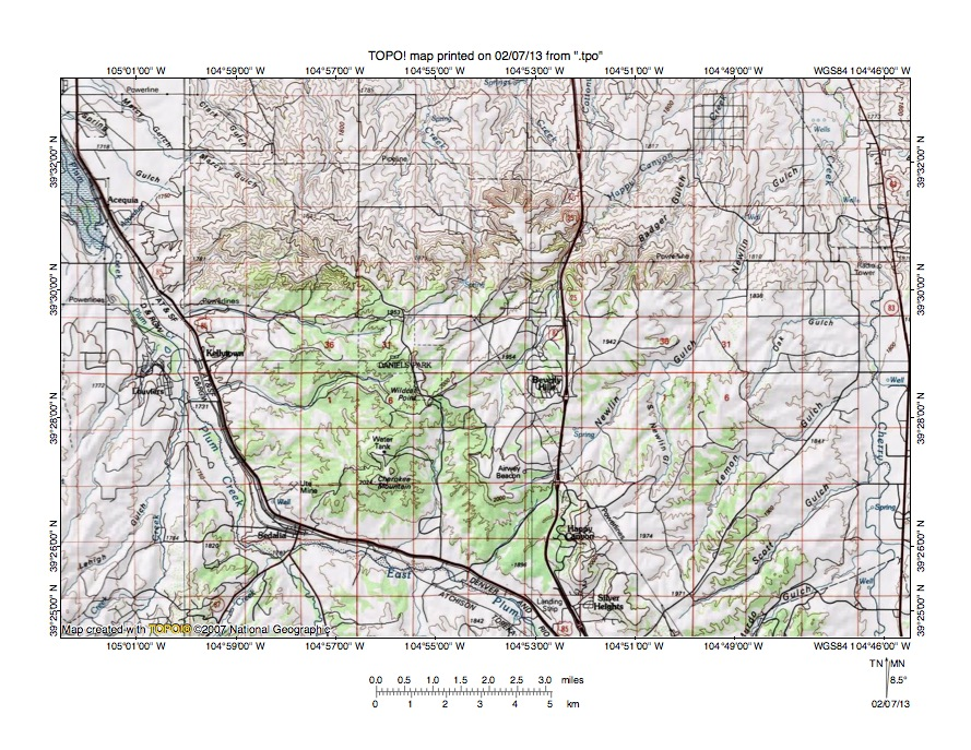 Cherry Creek Plum Creek Drainage Divide Area Landform Origins In